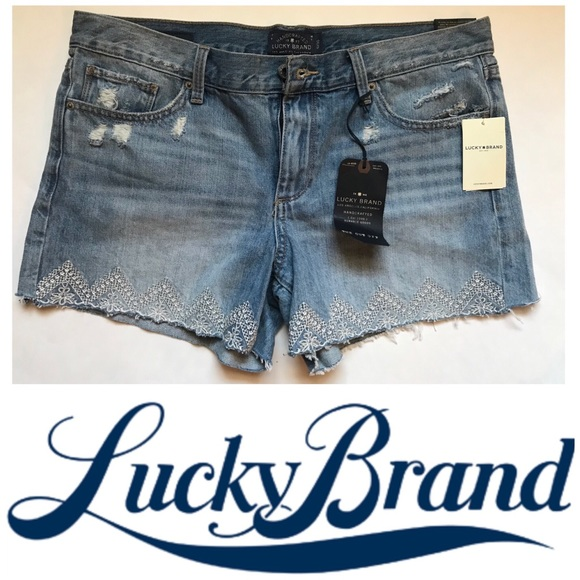 Lucky Brand Pants - New Lucky Brand Cut Off Distressed Denim Shorts